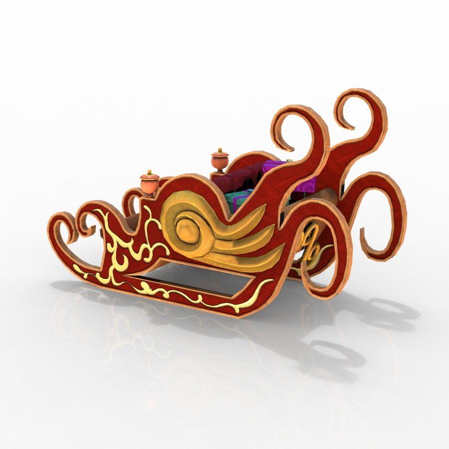 クリスマスそり royalty-free 3d model - Preview no. 6
