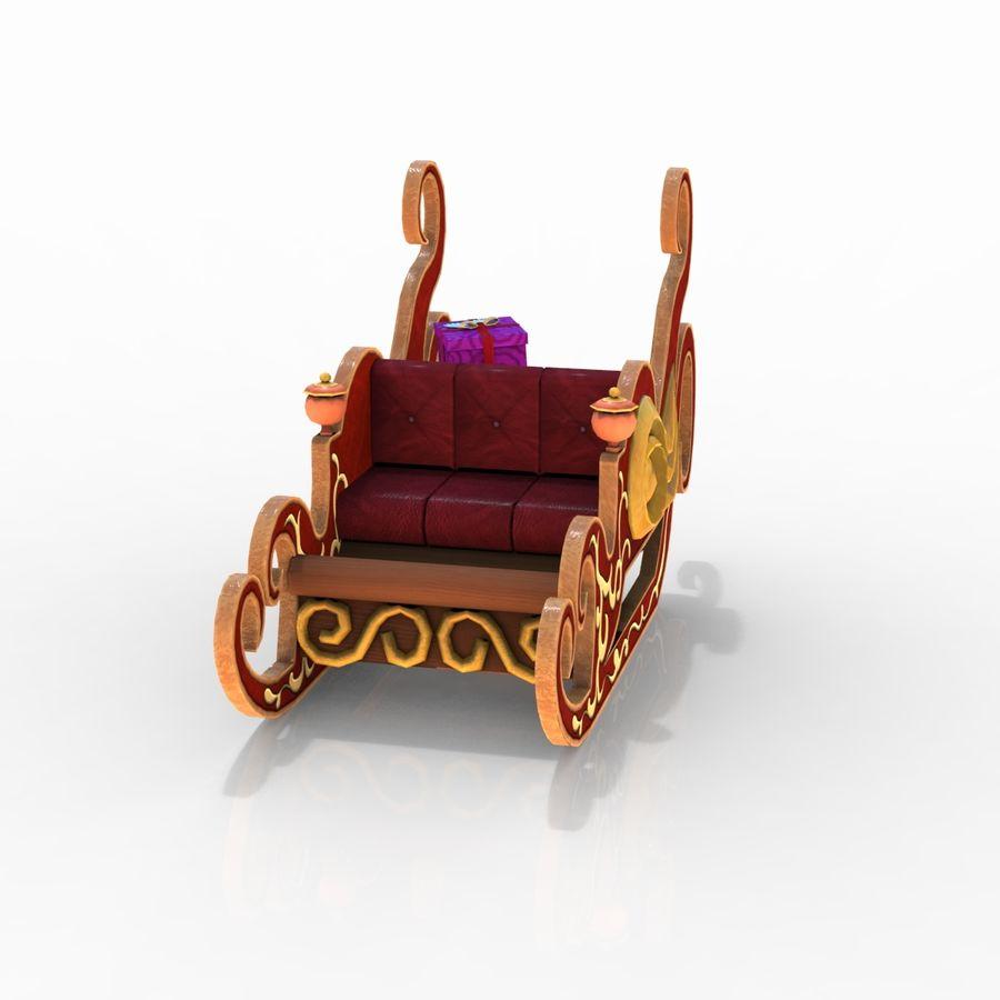 クリスマスそり royalty-free 3d model - Preview no. 10