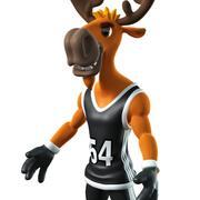 deer basketball player 3d model