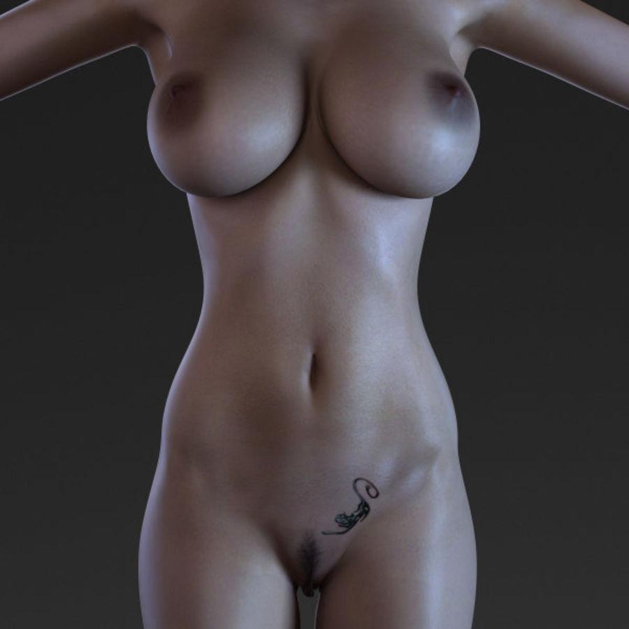 Femme 2 (truquée) royalty-free 3d model - Preview no. 5
