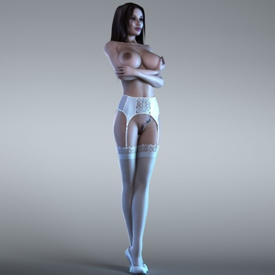 Woman 2 (Rigged) royalty-free 3d model - Preview no. 4