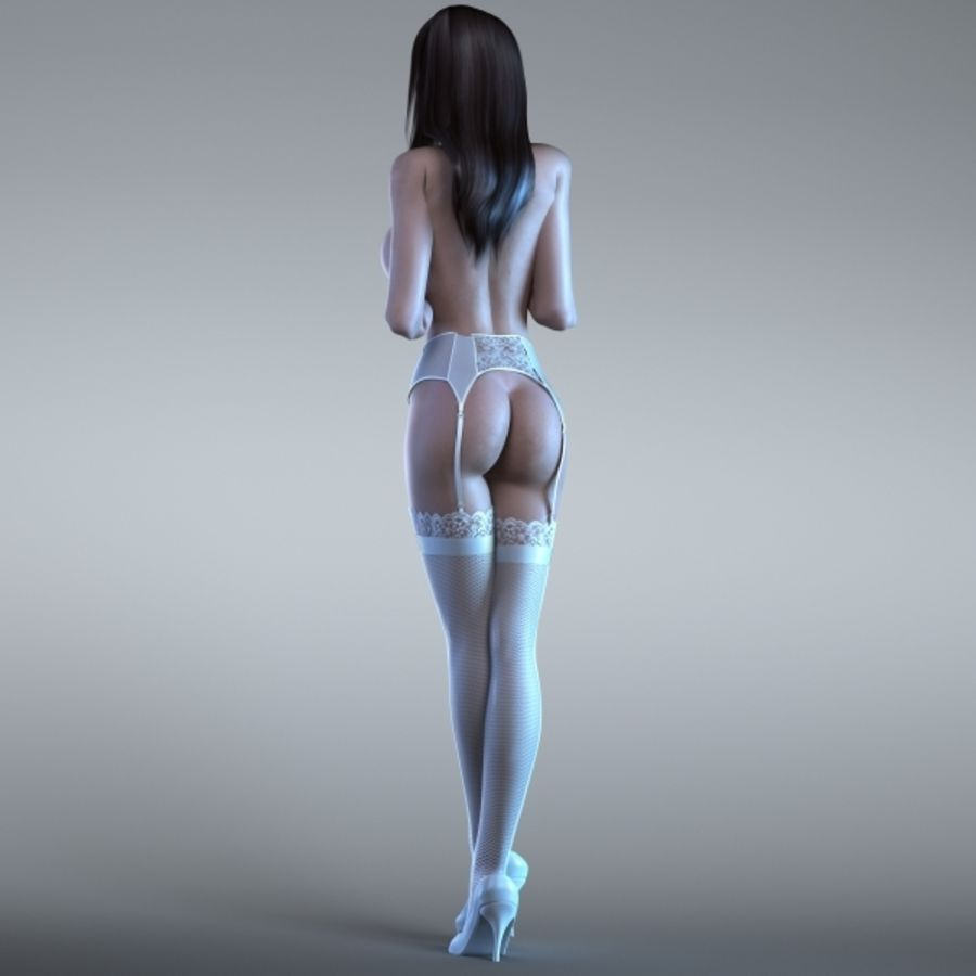Woman 2 (Rigged) royalty-free 3d model - Preview no. 2