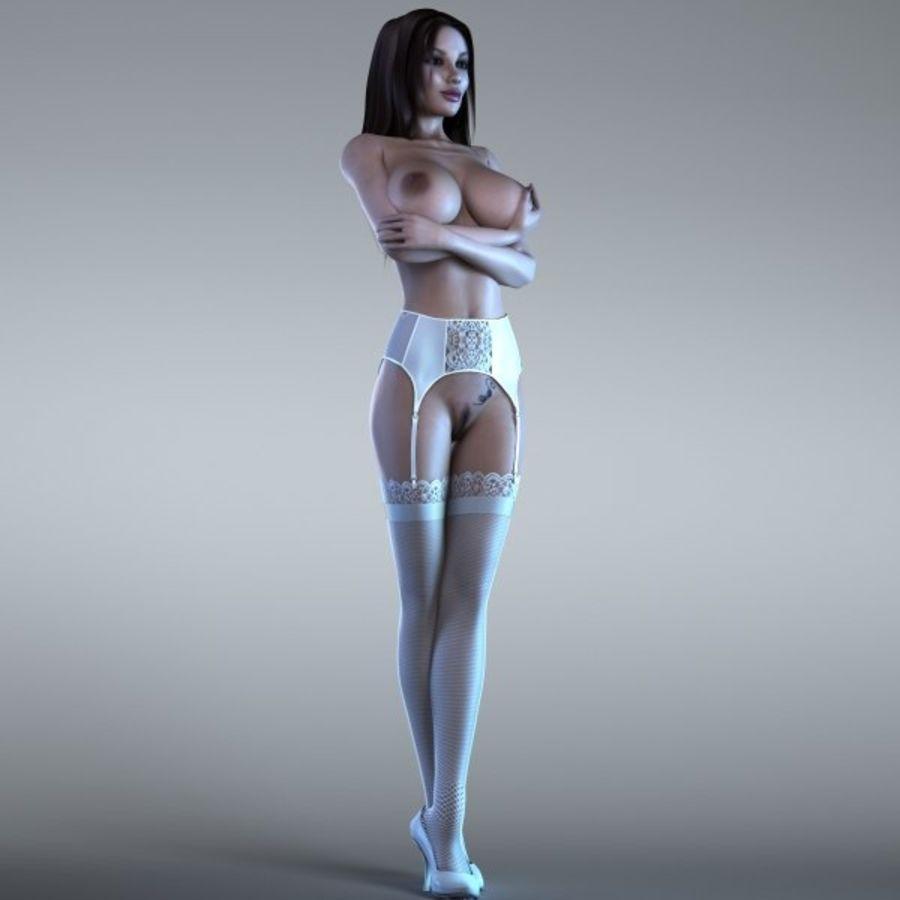 Femme 2 (truquée) royalty-free 3d model - Preview no. 4