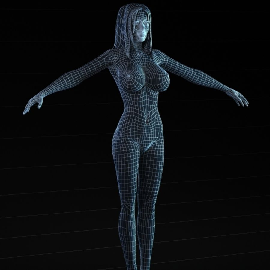 Woman 2 (Rigged) royalty-free 3d model - Preview no. 6