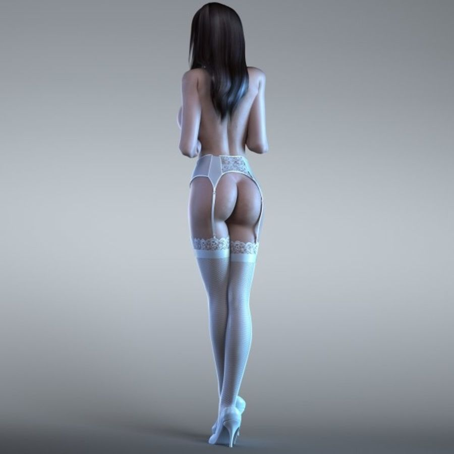 Femme 2 (truquée) royalty-free 3d model - Preview no. 2