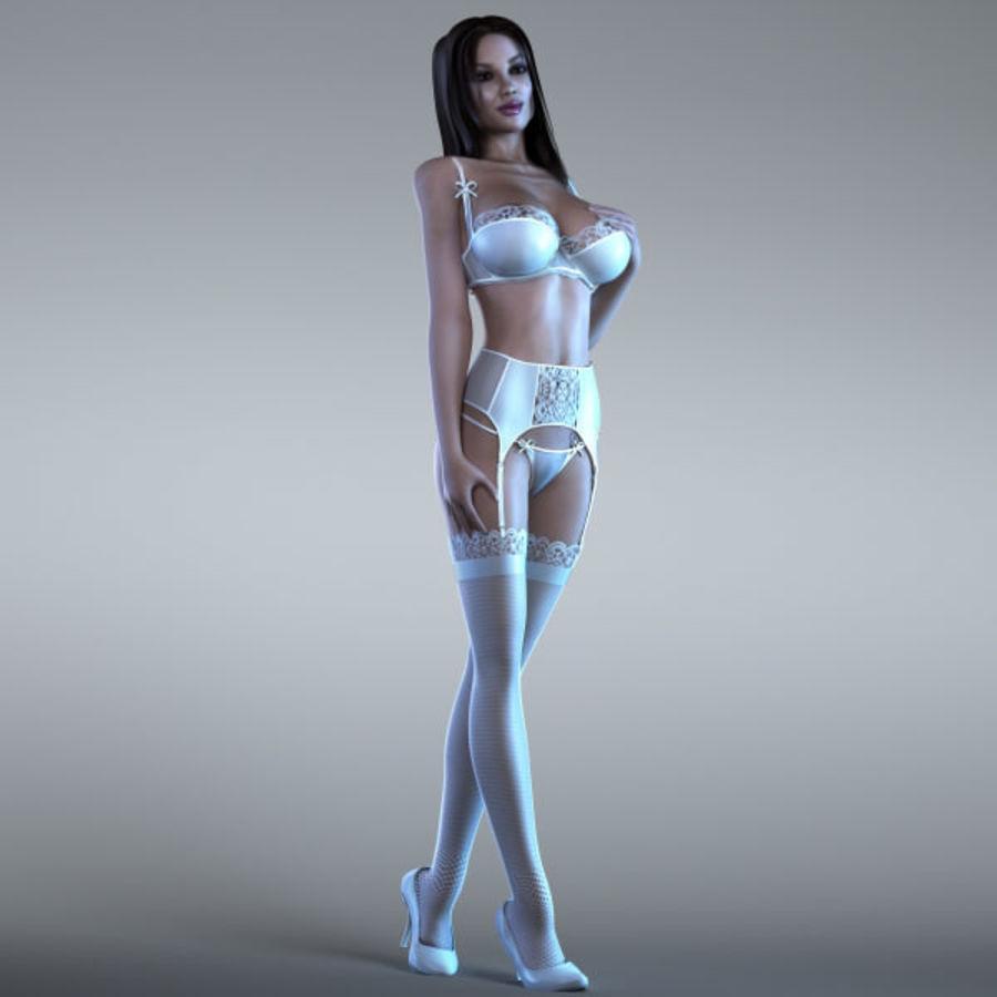 Femme 2 (truquée) royalty-free 3d model - Preview no. 3