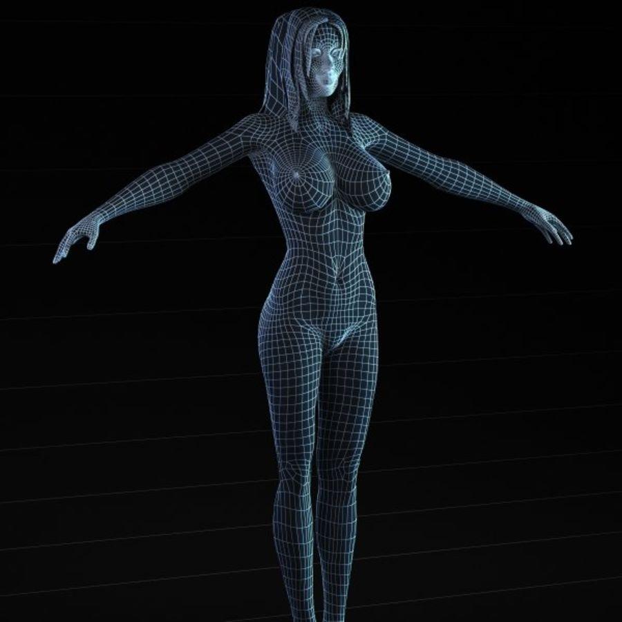 Femme 2 (truquée) royalty-free 3d model - Preview no. 6