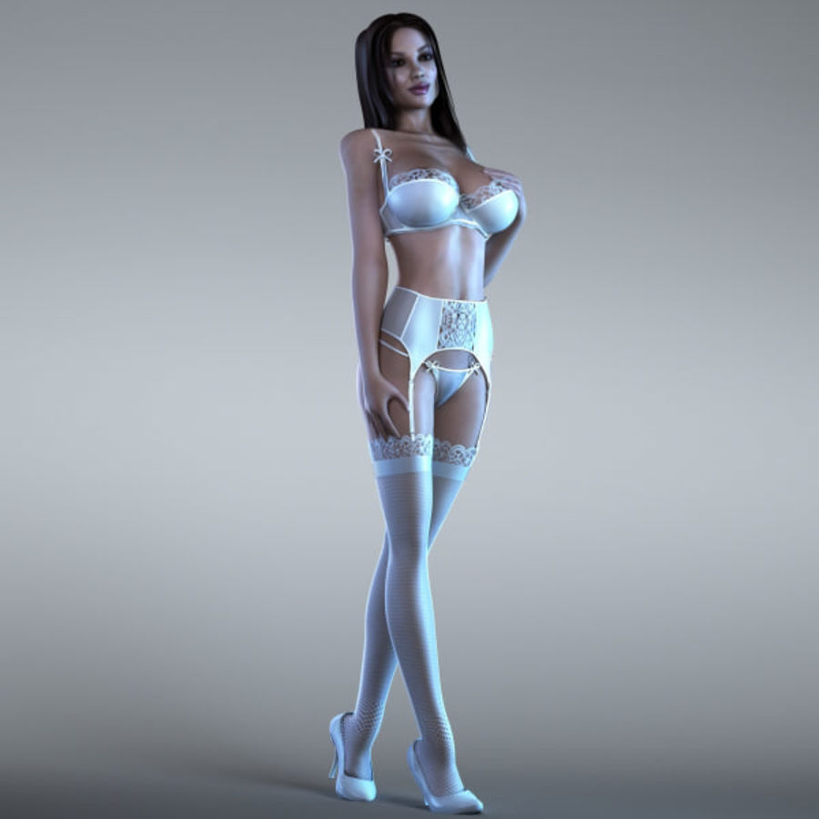 Woman 2 (Rigged) royalty-free 3d model - Preview no. 3
