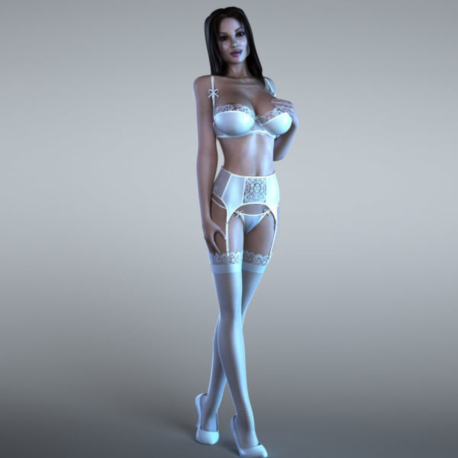 Woman 2 (Rigged) royalty-free 3d model - Preview no. 1