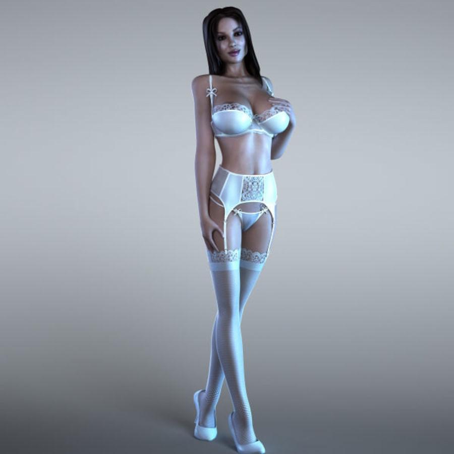 Femme 2 (truquée) royalty-free 3d model - Preview no. 1