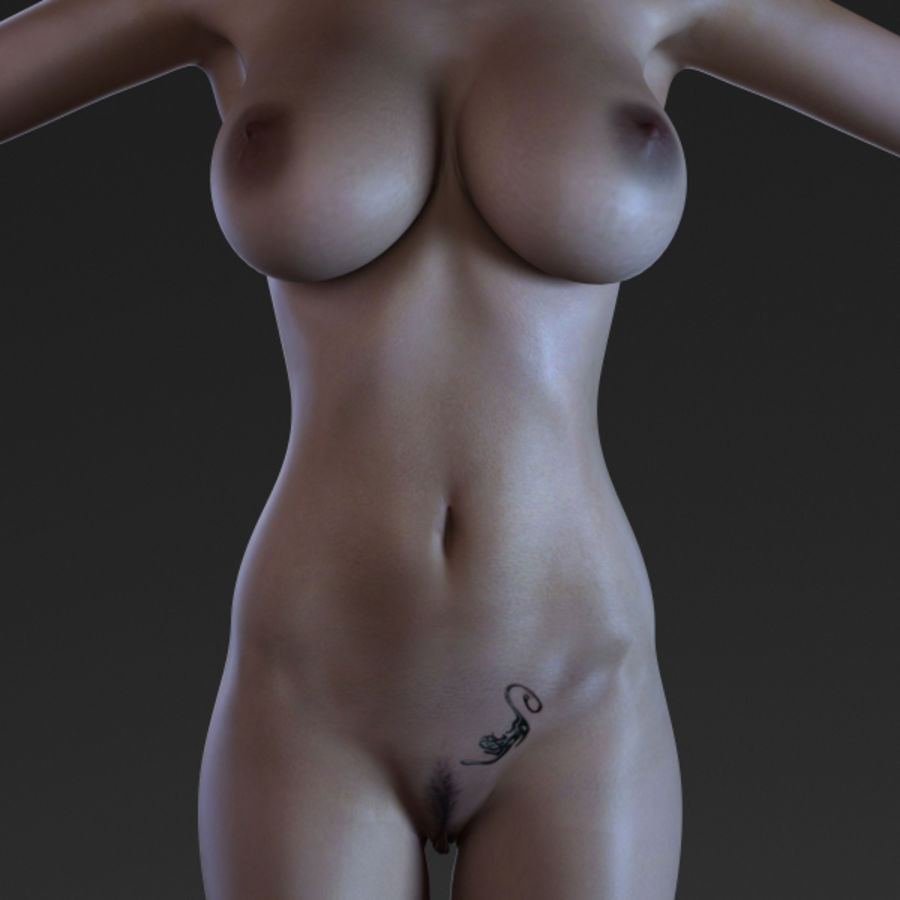 Woman 2 (Rigged) royalty-free 3d model - Preview no. 5