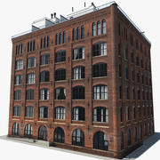 Building New York Brooklyn downtown 3d model