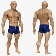 Escultura atlética do homem Zbrush (UVed) 3d model