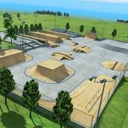 Skate Park Outdoor 3d model