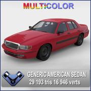 Generic American Sedan 3d model