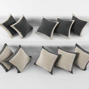 Pillows [Rect] 3d model