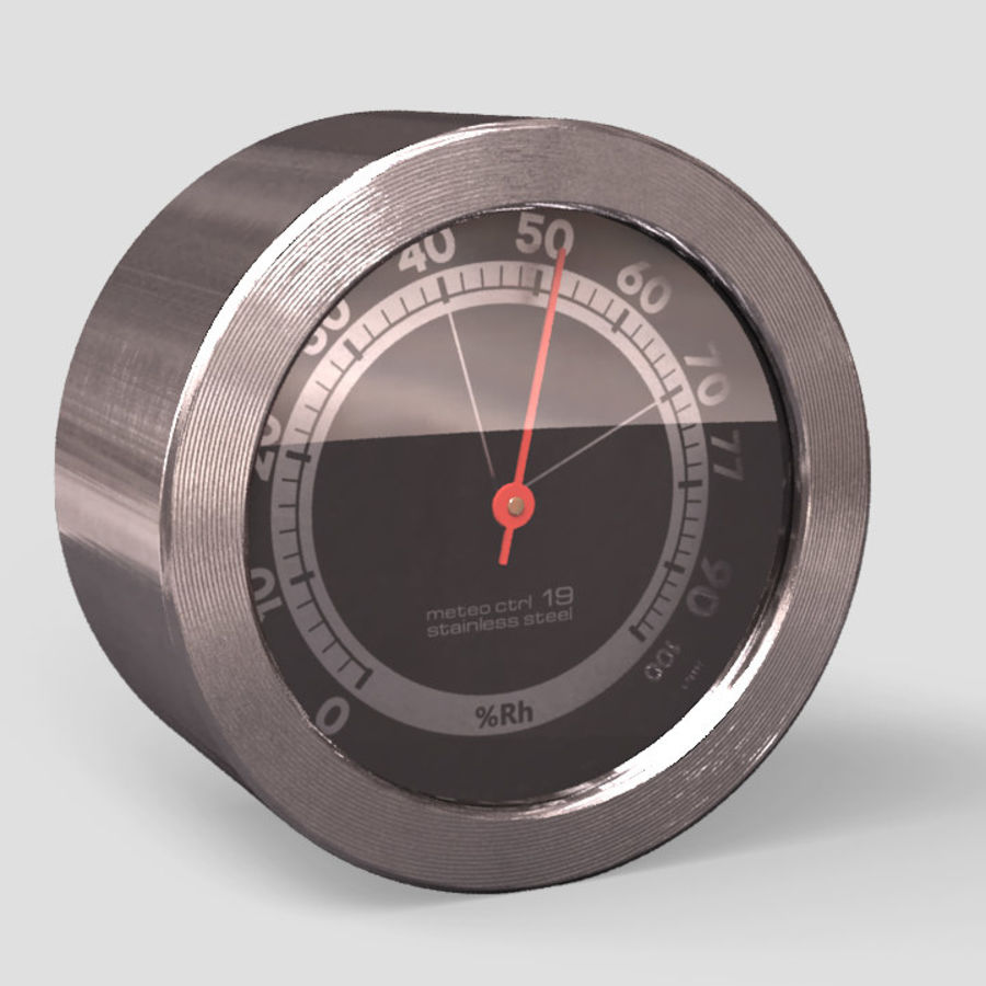 Hygrometer from RST meteo ctrl 19 royalty-free 3d model - Preview no. 1