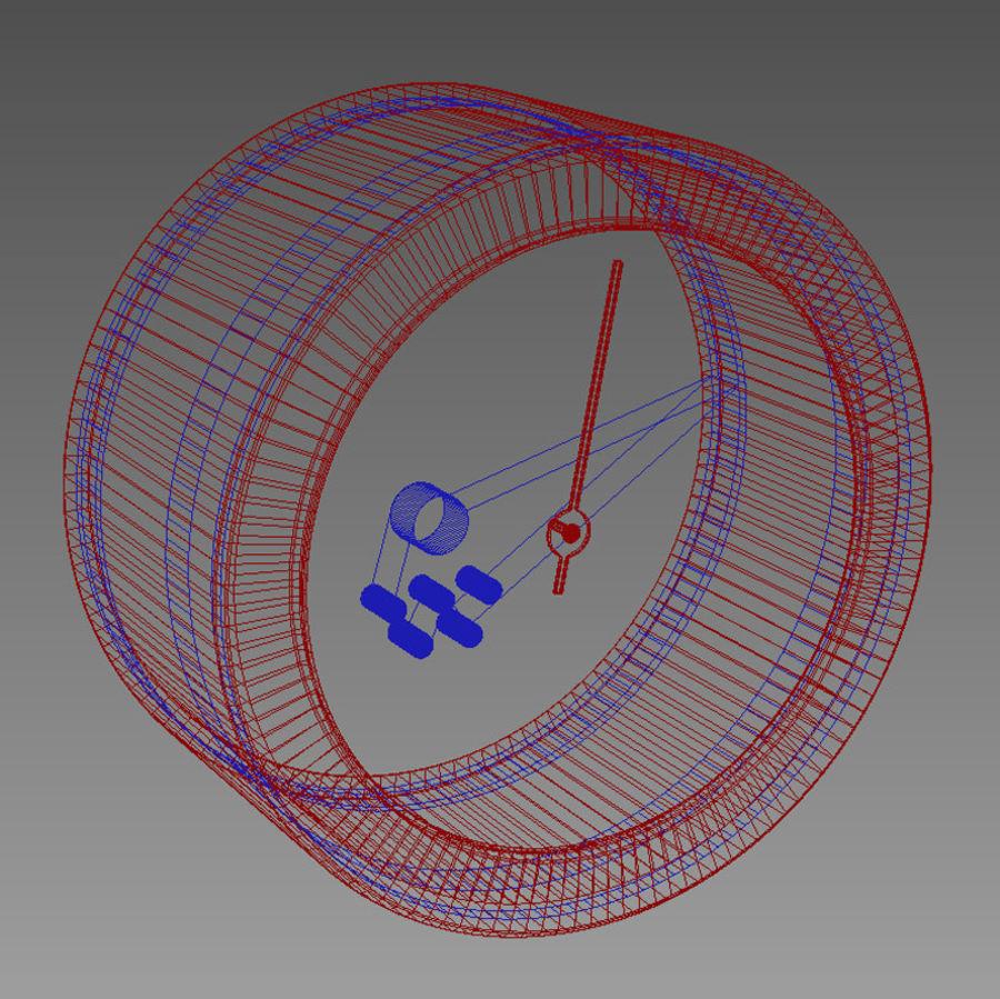 温度计,来自RST meteo ctrl 19 royalty-free 3d model - Preview no. 3