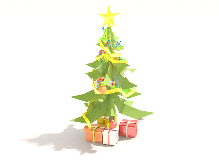 Style Xmastree Lowpoly royalty-free 3d model - Preview no. 4
