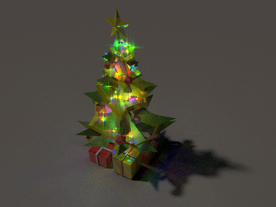 Styl Xmastree Lowpoly royalty-free 3d model - Preview no. 3