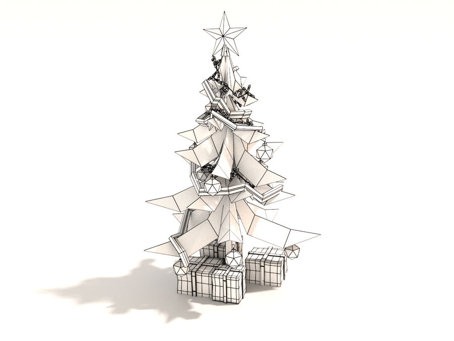Styl Xmastree Lowpoly royalty-free 3d model - Preview no. 6