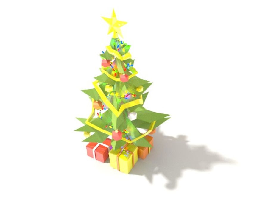 Style Xmastree Lowpoly royalty-free 3d model - Preview no. 1
