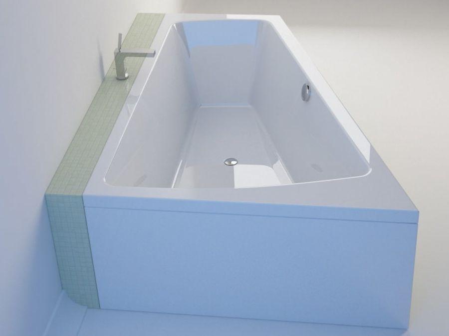 浴缸DURAVIT Paiova royalty-free 3d model - Preview no. 6