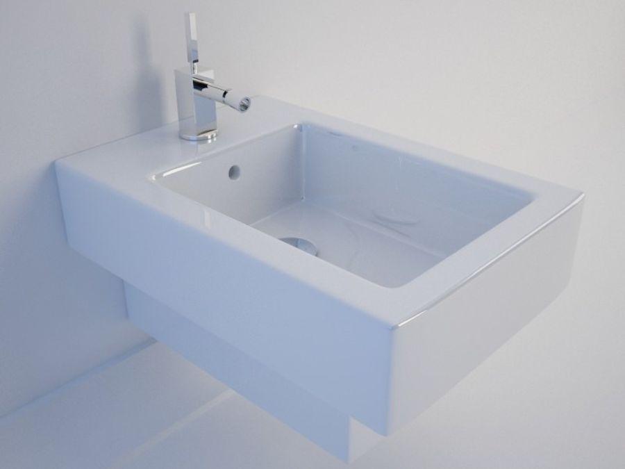 坐浴盆Duravit Vero royalty-free 3d model - Preview no. 1
