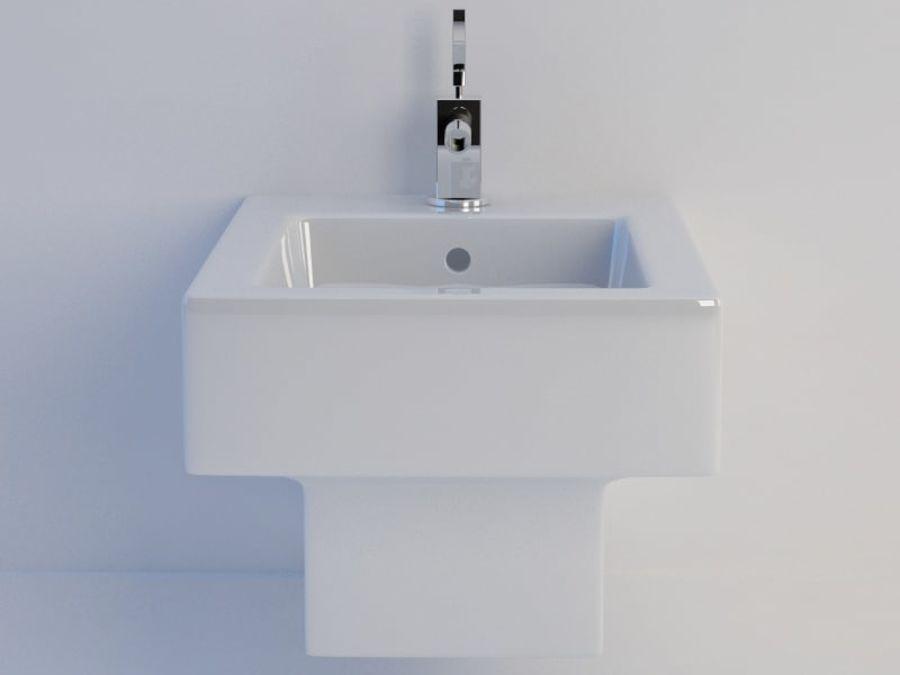 坐浴盆Duravit Vero royalty-free 3d model - Preview no. 6