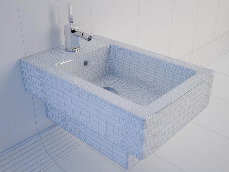 坐浴盆Duravit Vero royalty-free 3d model - Preview no. 2