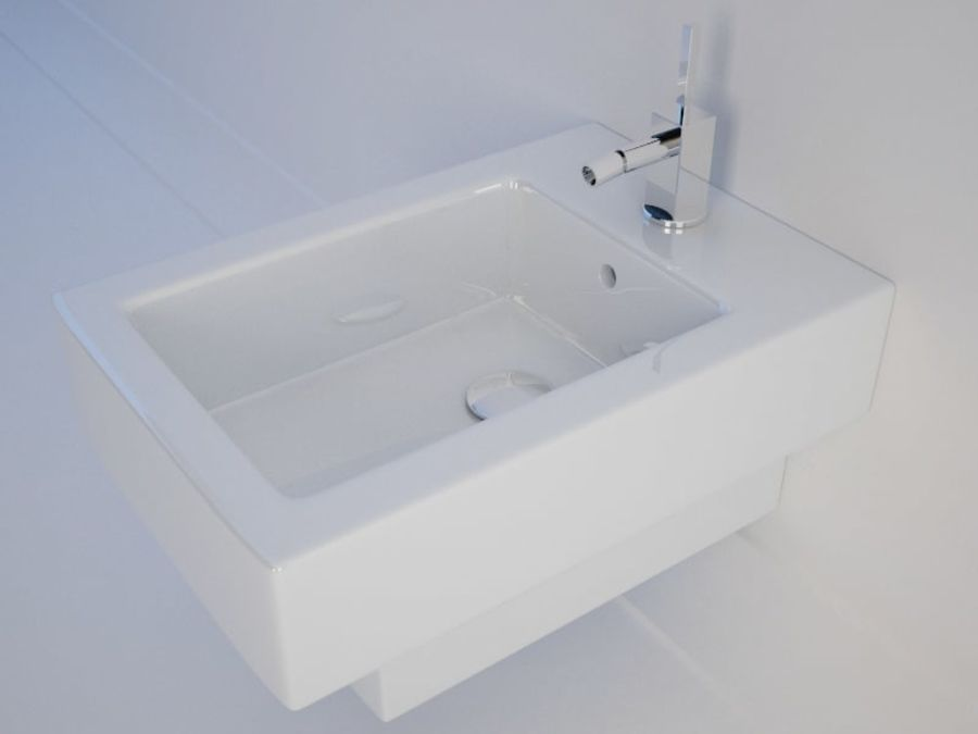 坐浴盆Duravit Vero royalty-free 3d model - Preview no. 3