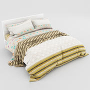 Bed collection 23 3d model