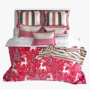 Кровать Рождество 3d model