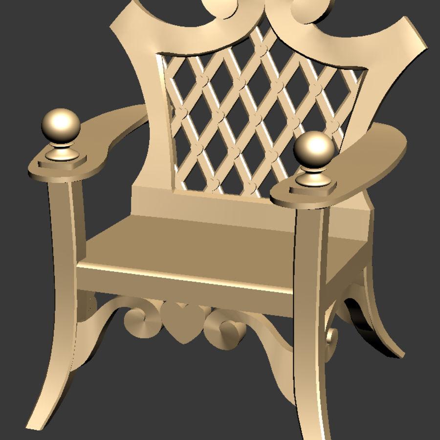 Banco y silla royalty-free modelo 3d - Preview no. 9