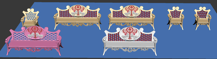 Bench & Chair royalty-free 3d model - Preview no. 11
