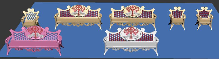Banco y silla royalty-free modelo 3d - Preview no. 11