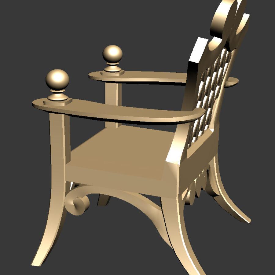 Banco y silla royalty-free modelo 3d - Preview no. 10