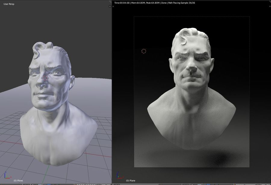 сверхчеловек royalty-free 3d model - Preview no. 2