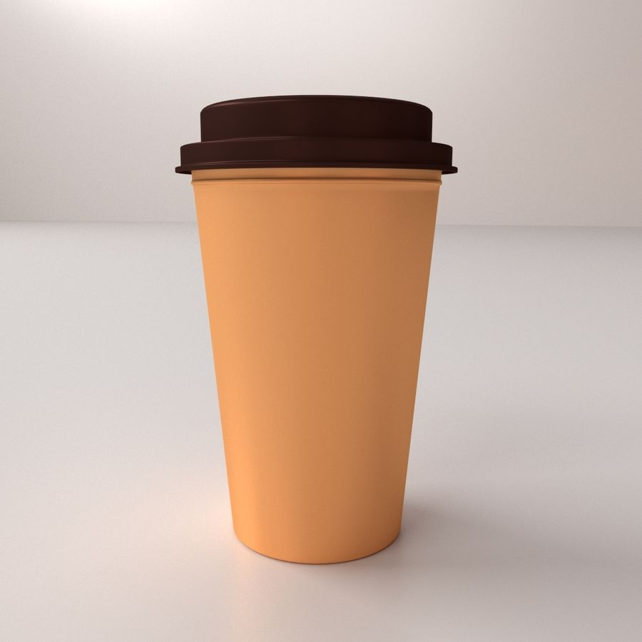 Disposable Coffee Cup royalty-free 3d model - Preview no. 2