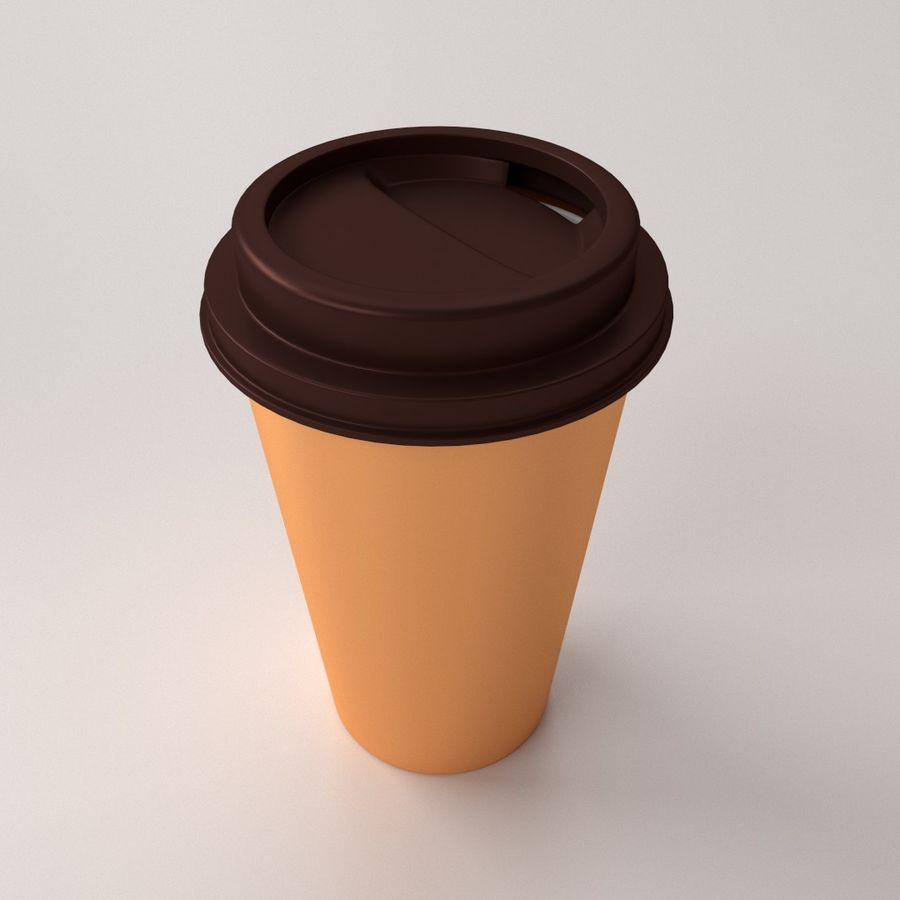 Disposable Coffee Cup royalty-free 3d model - Preview no. 1