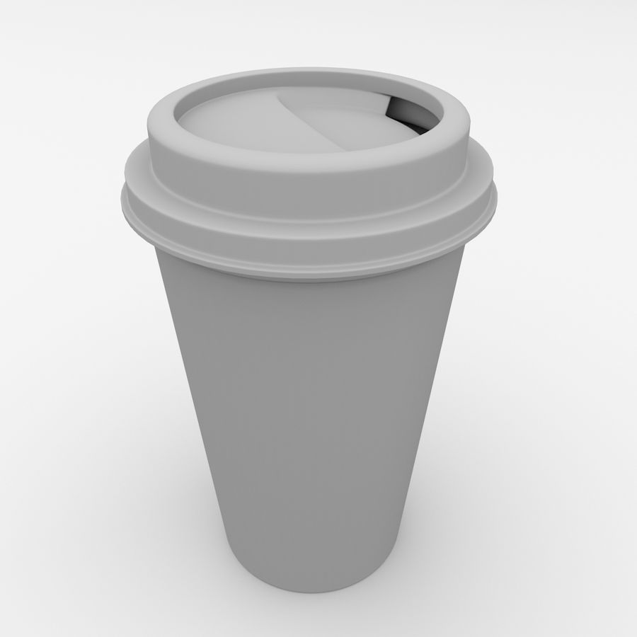 Disposable Coffee Cup royalty-free 3d model - Preview no. 4