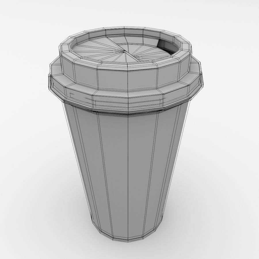 Disposable Coffee Cup royalty-free 3d model - Preview no. 5