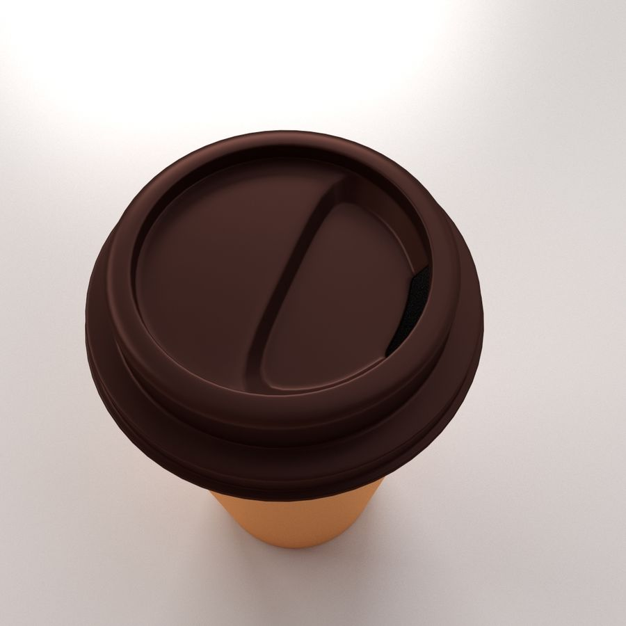 Disposable Coffee Cup royalty-free 3d model - Preview no. 3