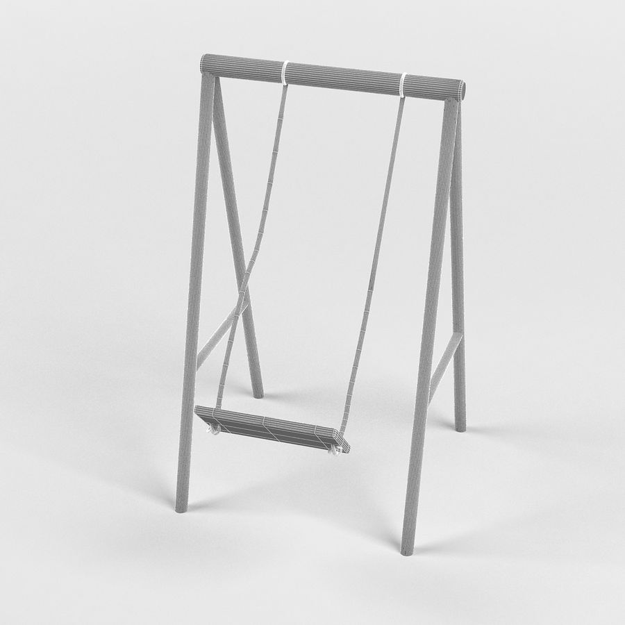 Garden swing royalty-free 3d model - Preview no. 2