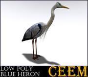 Low Polly Blue Heron 3d model