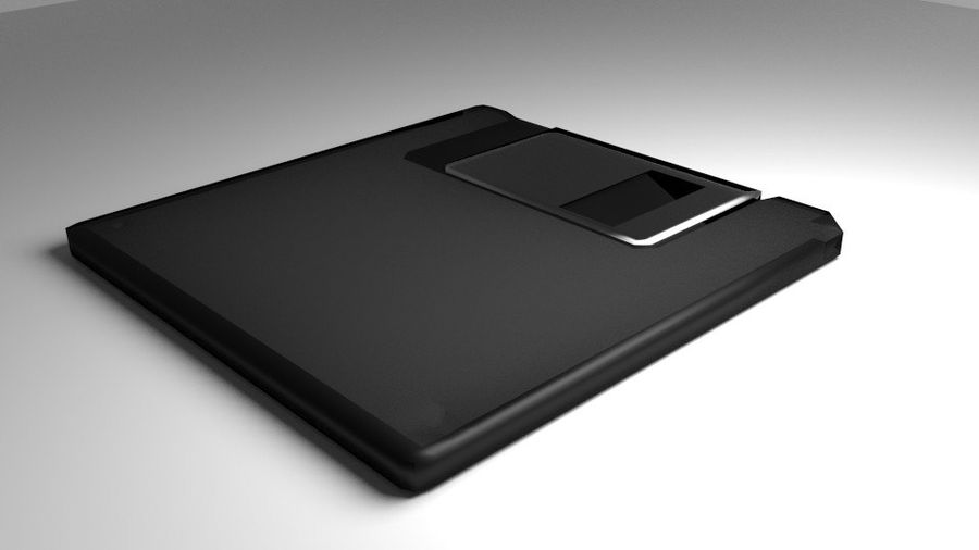 Computer Floppy Disc royalty-free 3d model - Preview no. 1