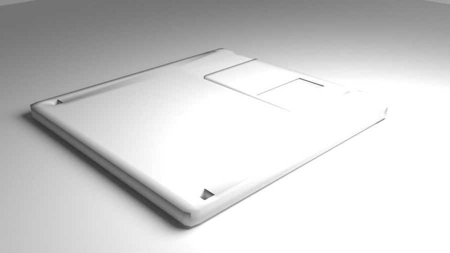 Computer Floppy Disc royalty-free 3d model - Preview no. 4