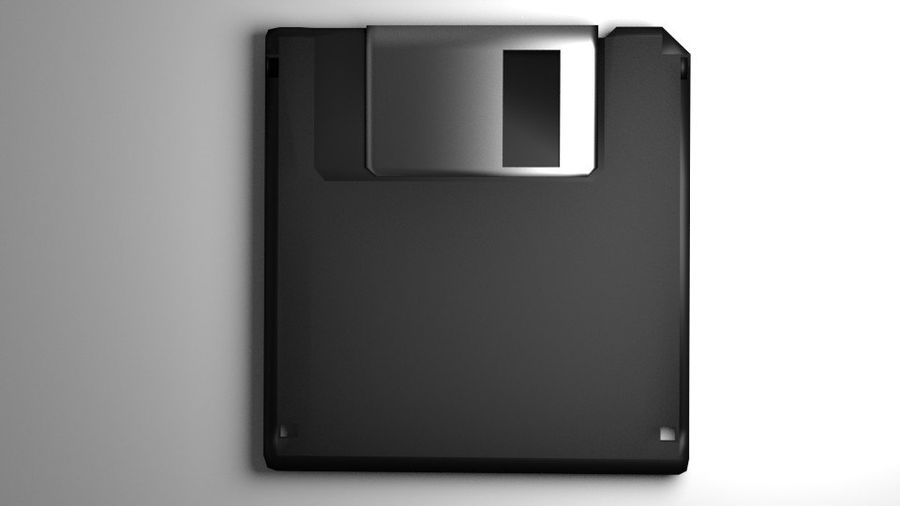 Computer Floppy Disc royalty-free 3d model - Preview no. 2