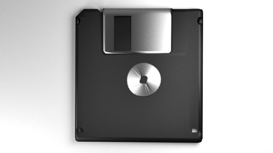 Computer Floppy Disc royalty-free 3d model - Preview no. 3