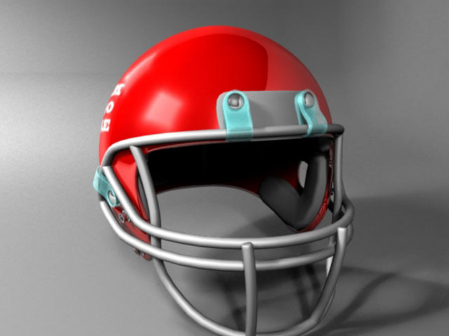Football Helmet royalty-free 3d model - Preview no. 3